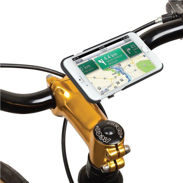 自転車につけた携帯ホルダー