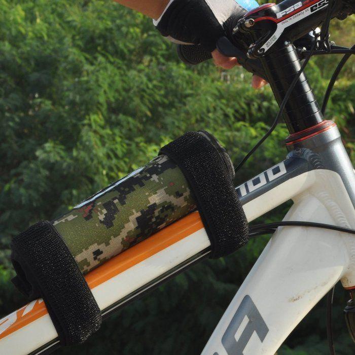 自転車に装着したbuletoothスピーカ