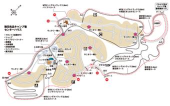 無印良品南乗鞍キャンプ場内のマップ