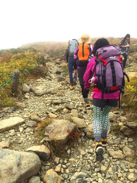 カナコさん登山中