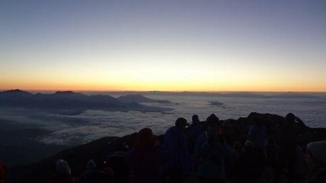 到着時の山頂からの景色