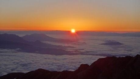 山頂から見えた日の出