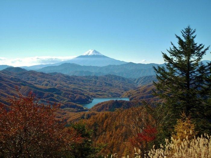 大菩薩峠から見える富士山