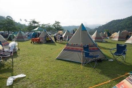 グリンヴィラでのキャンプの様子