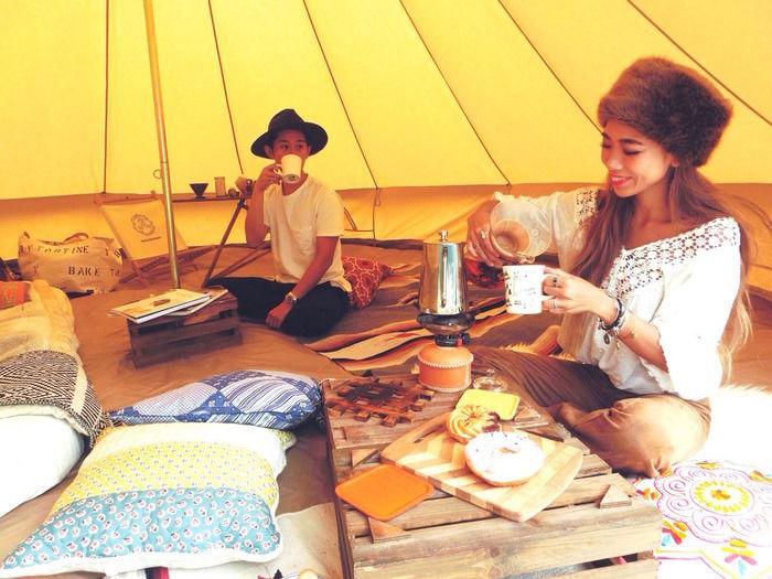 yuriexx67さんカップルのキャンプの様子