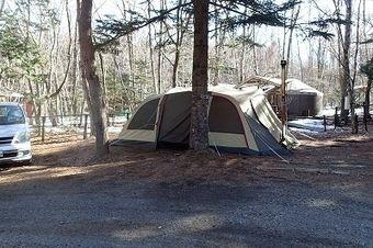冬のキャンプ場の様子