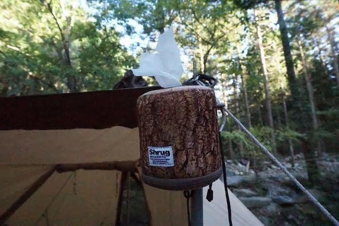 道志の森キャンプ場とホルダーに入ったトイレットペーパー