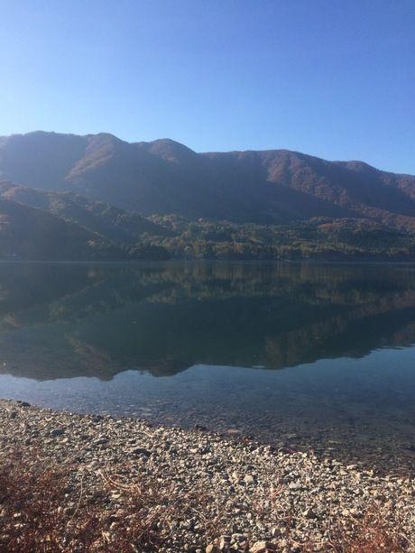 青木湖キャンプ場から見える青木湖
