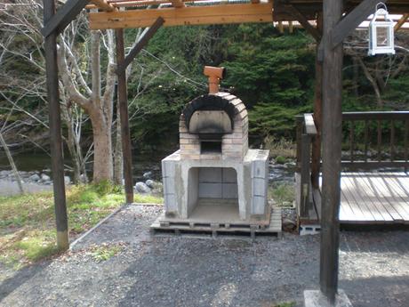 cazuキャンプ場のピザ窯