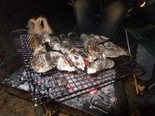 焼き牡蠣BBQの様子