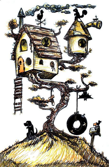ツリーハウスのイラスト