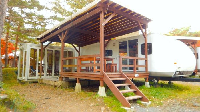 PICA富士西湖のトレーラーハウス