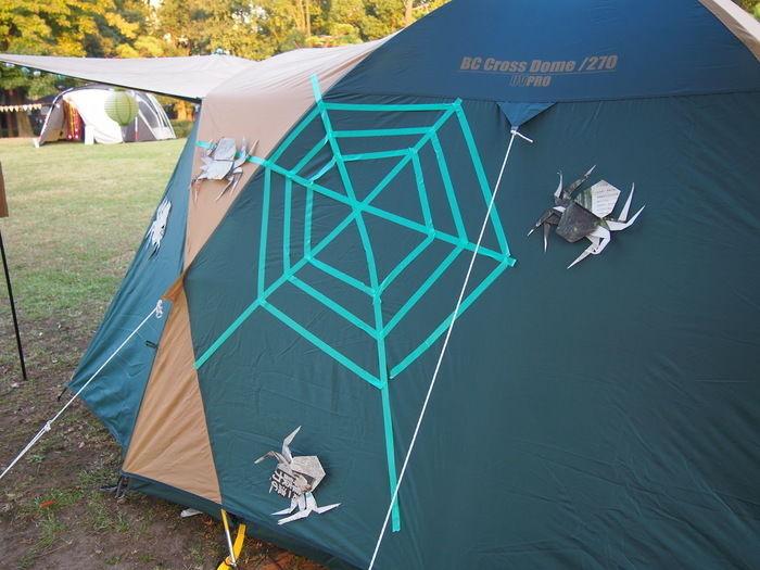 Campeena 主催イベント Happy Halloween campのデコレーションされたテント