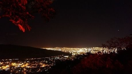 山梨県八代ふるさと公園から見た夜景