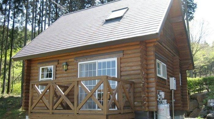乙女森林公園第二キャンプ場のログハウス