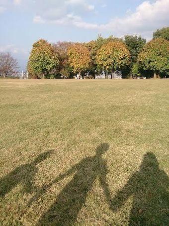 山梨県八代ふるさと公園の古墳広場