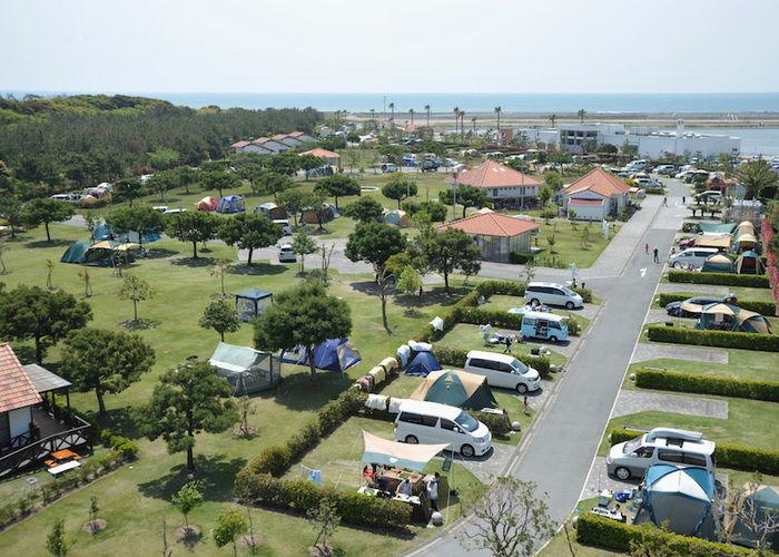 竜洋海洋公園オートキャンプ場の全体