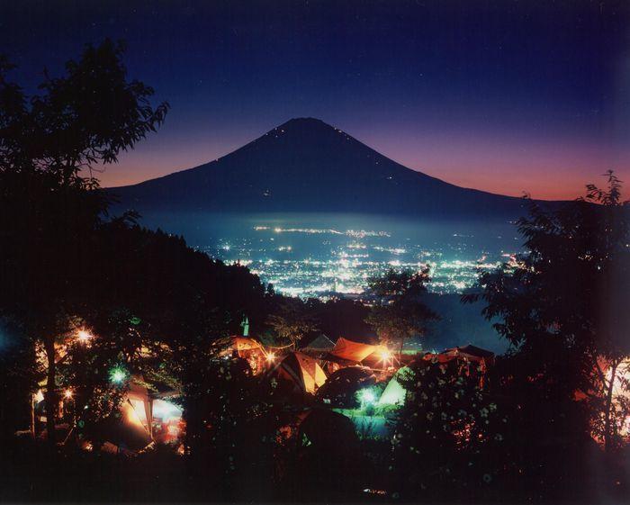 乙女森林公園キャンプ場の夜景