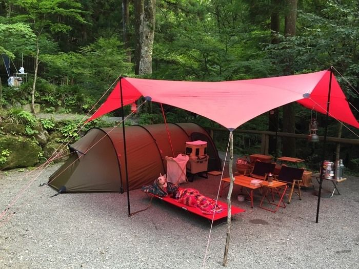 道志村とやのさわキャンプ場のテントサイト