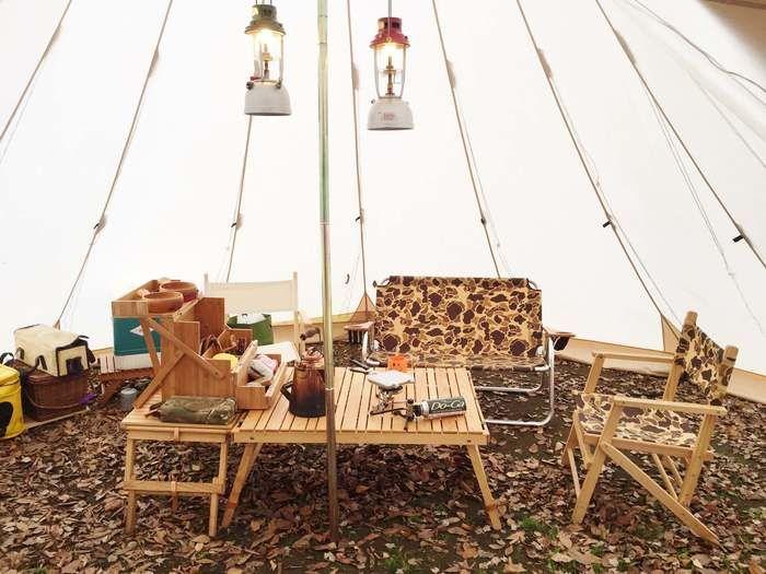 シエルブルーのキャンプギアをつかったキャンプサイト