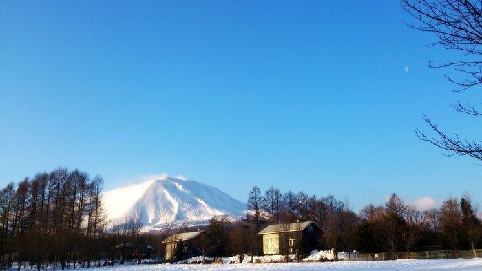 雪化粧した浅間山