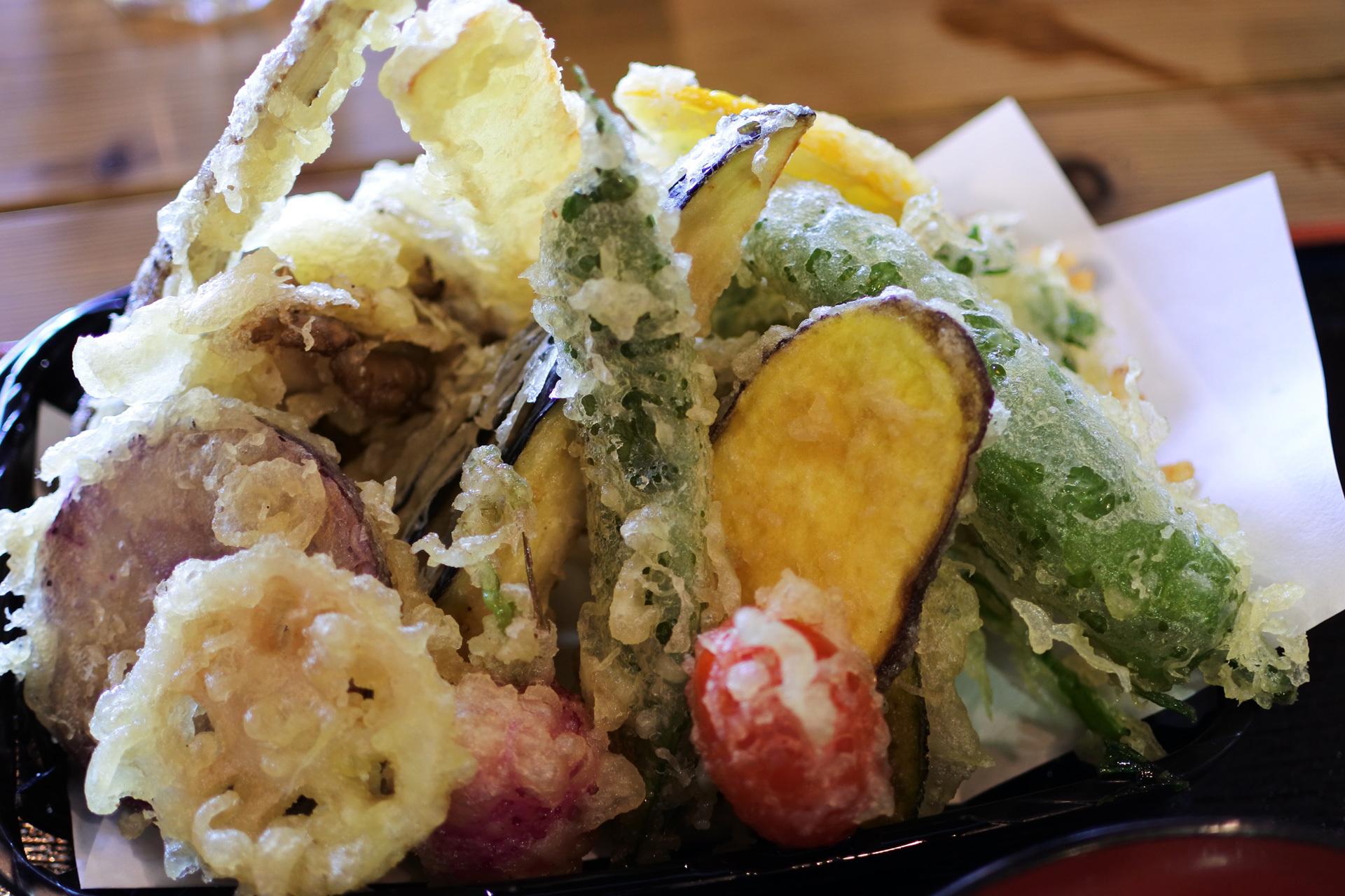 道の駅,三芳村,鄙の里,料理,天ぷら丼