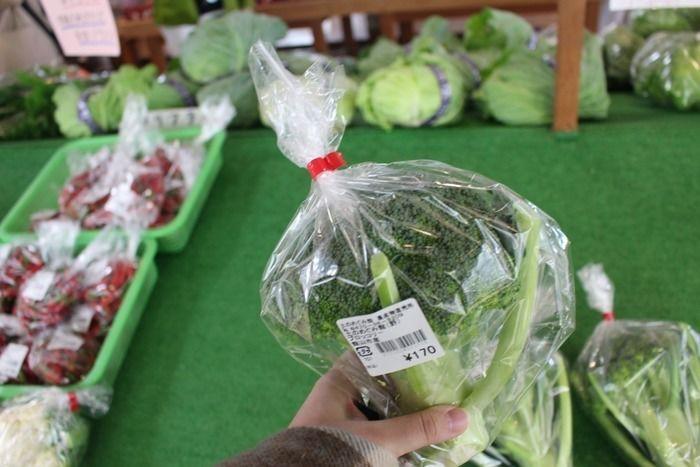 土のめぐみ館で販売されているブロッコリー