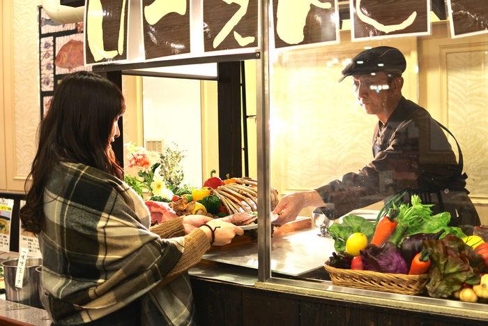 リゾートホテル休暇村館山のバイキングのお肉