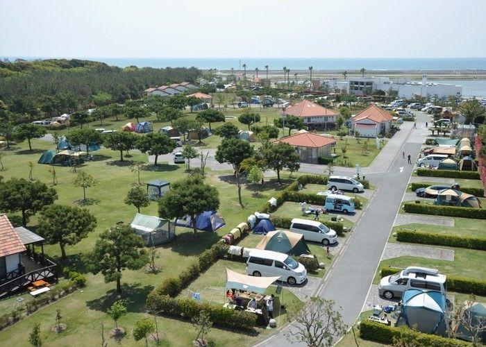 上空から見た竜洋海洋公園