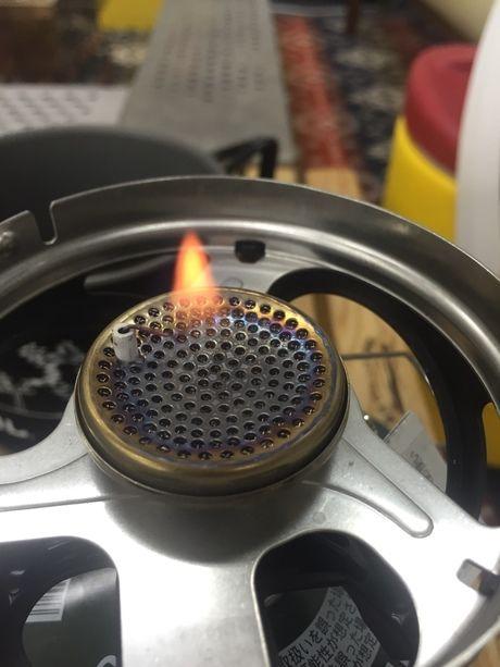 ジェットボイル・ミニモの強火の様子