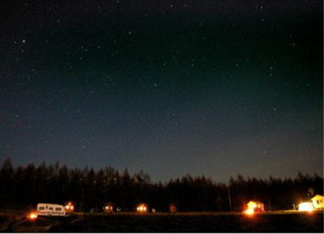 星に手の届く丘キャンプ場から見える星空