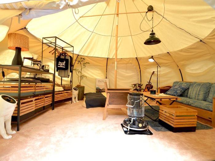 イナウトのギアを使ったテントサイト