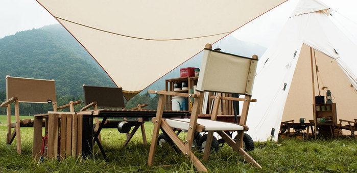 INOUTのキャンプギアを使ったテントサイト