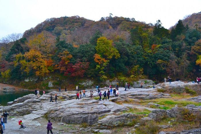 天然記念物「岩畳み」の景観