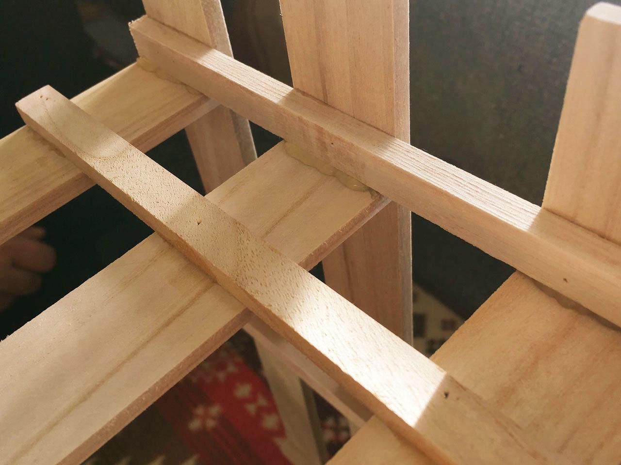 【100均DIY】すのこで作る収納棚の作り方3