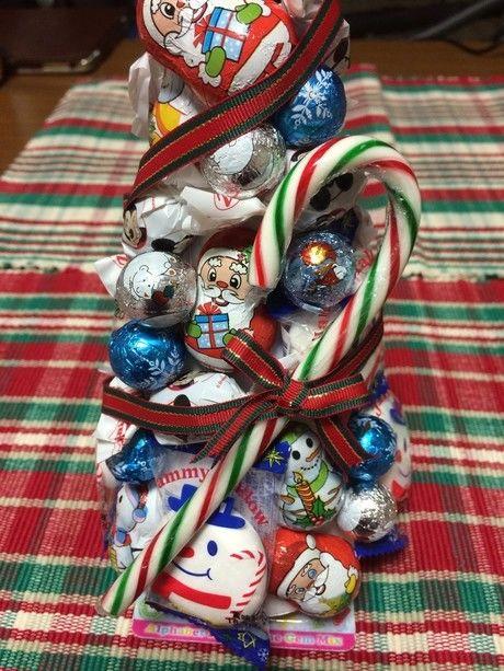 お菓子のクリスマスツリーの完成図