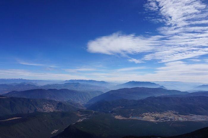 山から見える景色
