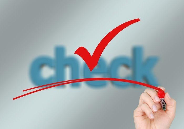 「check」の文字