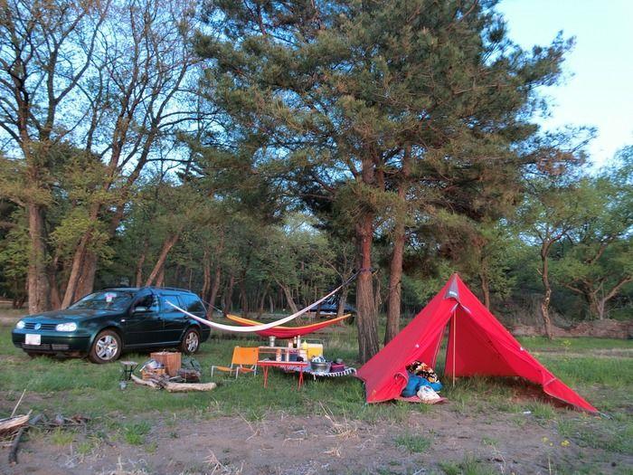 個食個泊のキャンプの様子