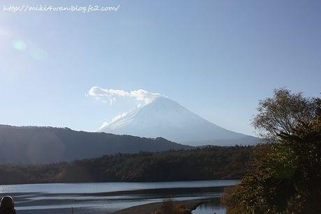 西から富士山を見た様子