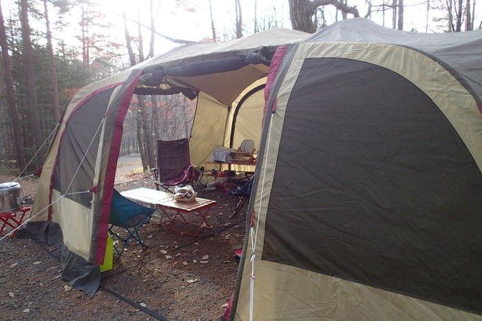 丘の公園キャンプ場のテント