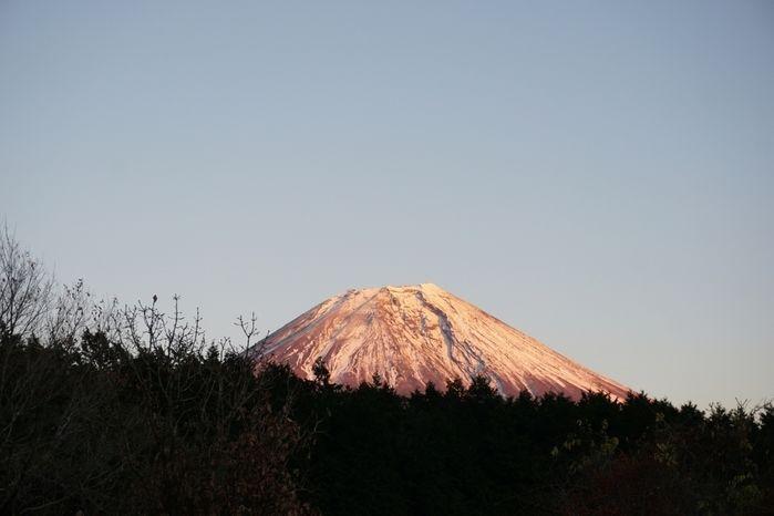 富士山の山頂付近