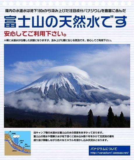 富士山の天然水の広告