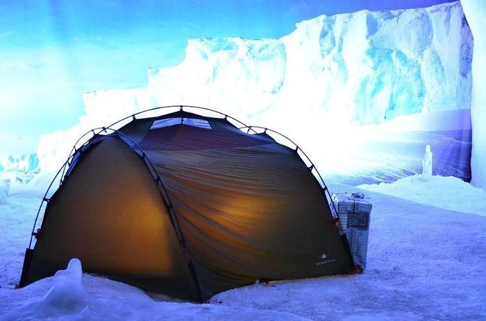冬のキャンプの様子