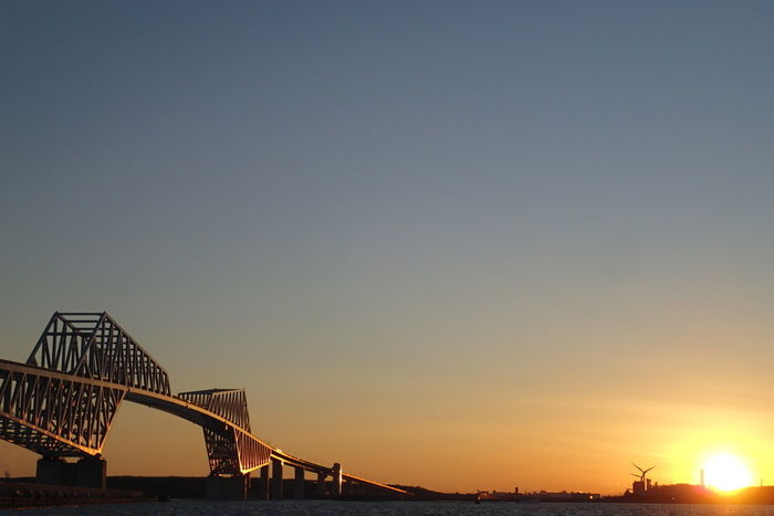東京ゲートブリッジとサンセット