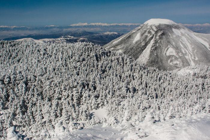 冬の北横岳の様子