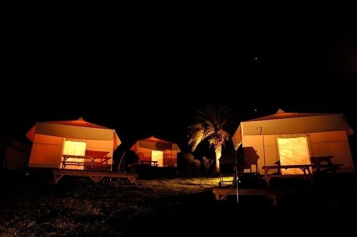 初島アイランドリゾートのテントサイト