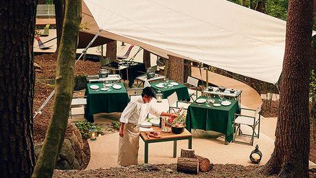 星のや富士の堪能できるキャンプ料理