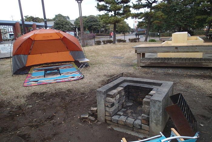 第一キャンプ場の野外炉