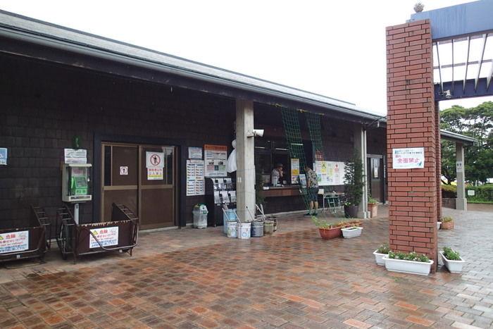 城南島キャンプ場の公園管理事務所窓口